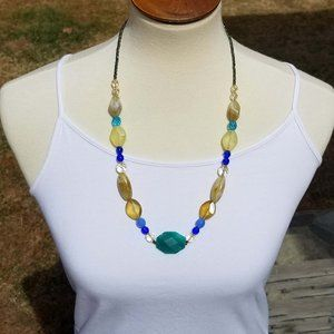 Rachel Multi Colored Acrylic Stone Necklace EUC